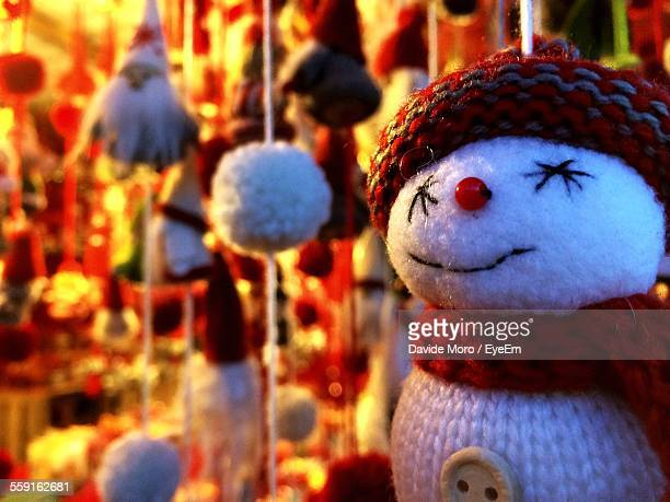 Close-Up Of Snowman In Shop
