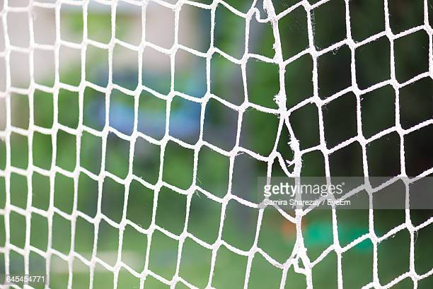 Close-Up Of Soccer Goal Net