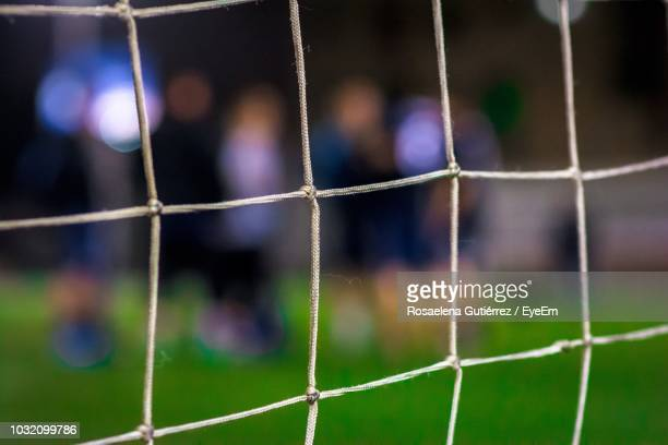close-up of soccer net - soccer goal stock pictures, royalty-free photos & images