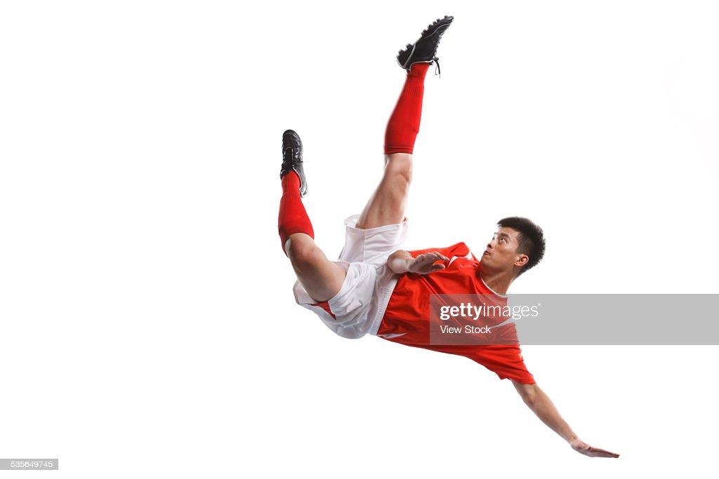 Close-up of soccer player : Stock Photo