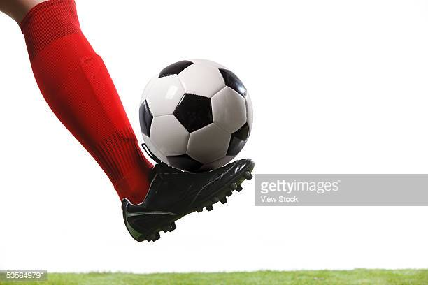 close-up of soccer player - cleats stock pictures, royalty-free photos & images