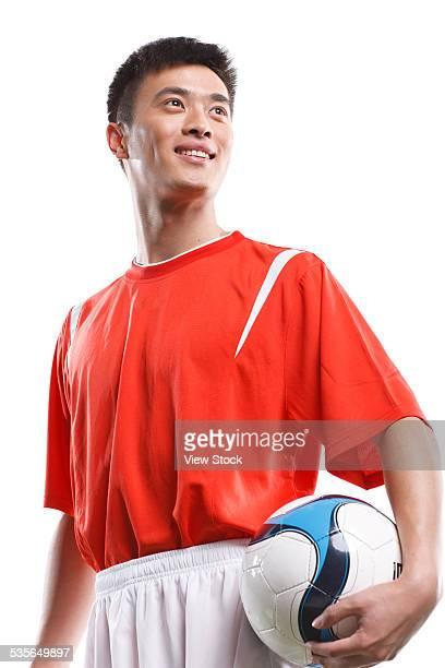 close-up of soccer player - da cintura para cima imagens e fotografias de stock
