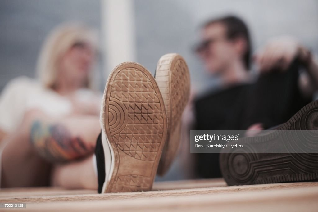 Close-Up Of Sole Of Shoe : Stock Photo