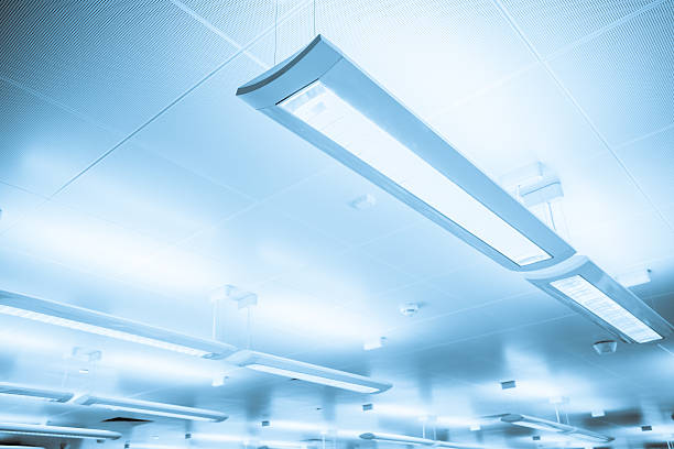 Free fluorescent light images pictures and royalty free stock fluorescent tubes close up of some indoor lighting bars hanging from ceiling aloadofball Images