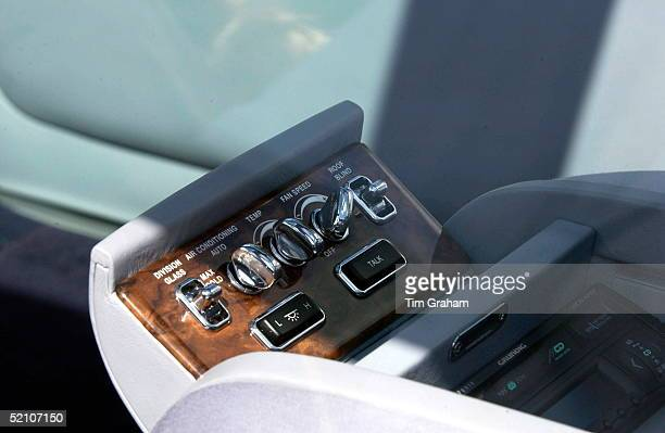 Closeup Of Some Of The Controls In The New Bentley State Limousine Car Presented To The Queen As A Golden Jubilee Gift On Behalf Of A Consortium Of...