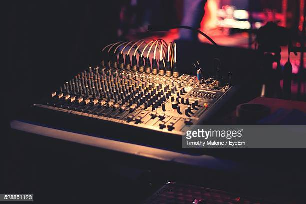 Close-Up Of Sound Mixer At Club