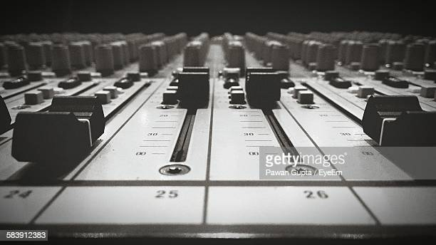close-up of sound mixer in studio - equalizer stock pictures, royalty-free photos & images
