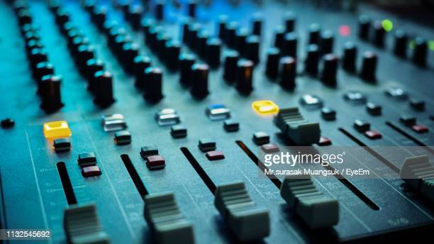 close-up of sound mixer - audio equipment stock pictures, royalty-free photos & images