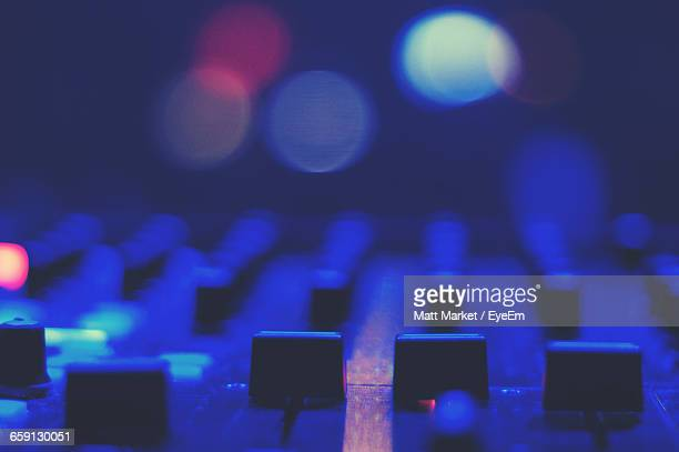 close-up of sound mixer - equaliser stock pictures, royalty-free photos & images