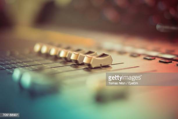close-up of sound mixer - recording studio stock pictures, royalty-free photos & images