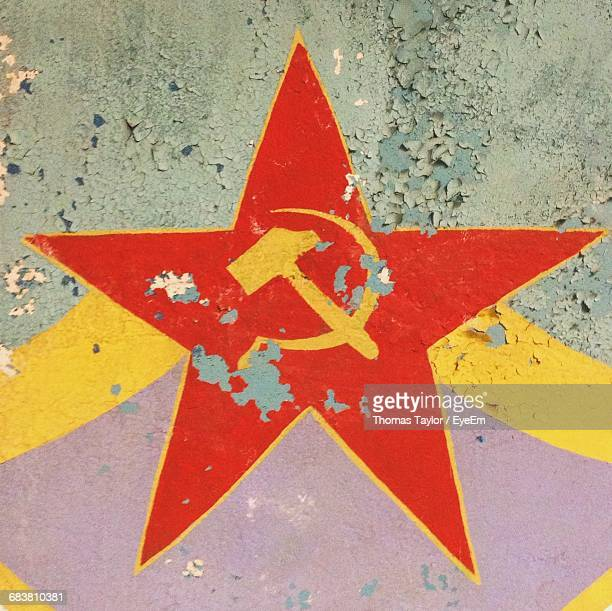 close-up of soviet union flag - communism stock pictures, royalty-free photos & images