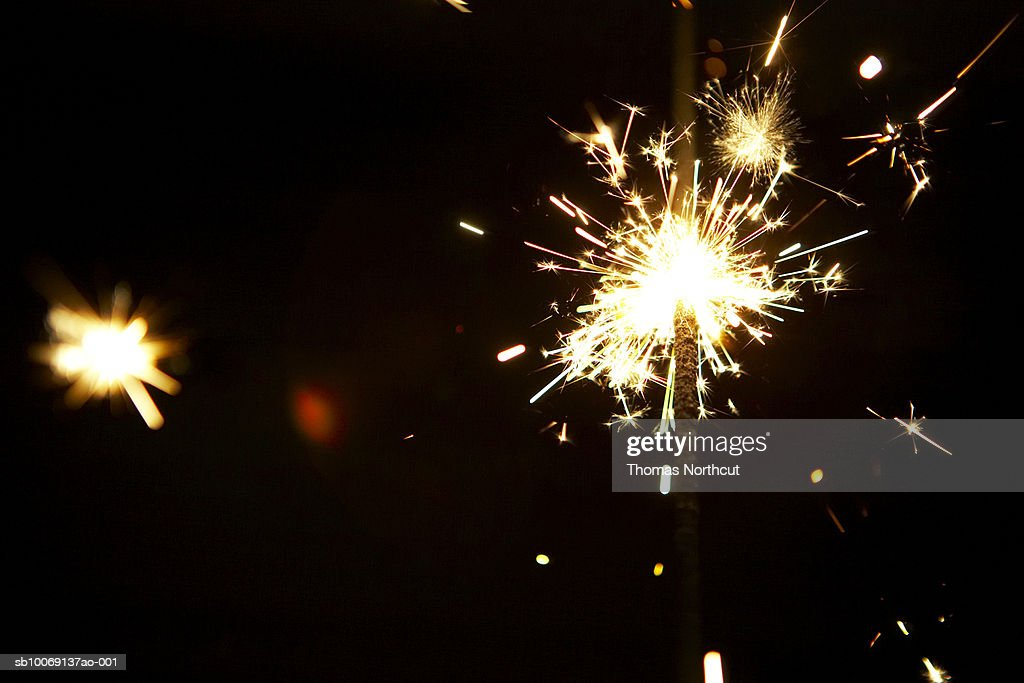 Close-up of sparkler : Stockfoto