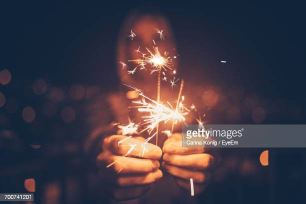 close-up of sparklers - sparkler stock photos and pictures