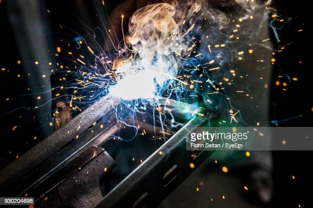 close-up of sparks in factory - florin seitan stock pictures, royalty-free photos & images