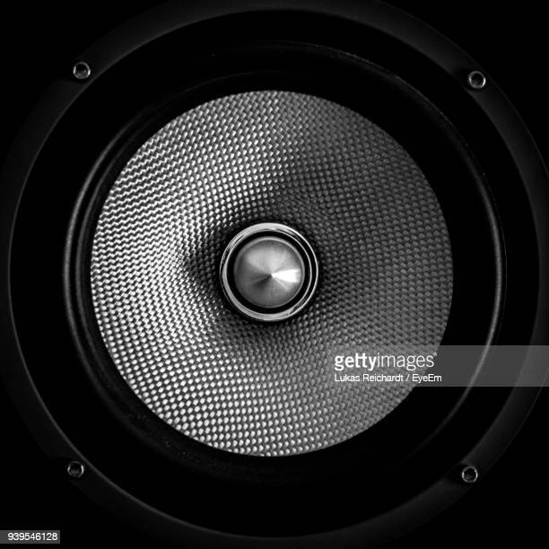 close-up of speaker - loudspeaker stock photos and pictures