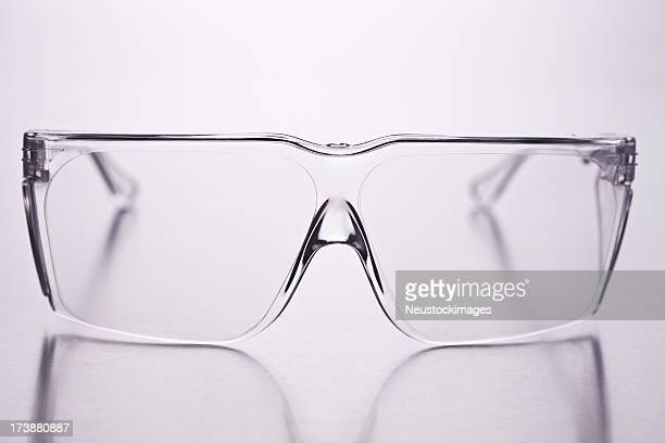Closeup of spectacles over isolated background