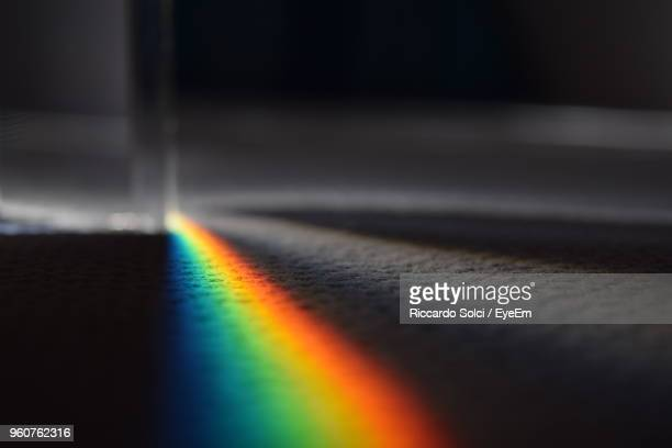 close-up of spectrum on floor - spectrum stock pictures, royalty-free photos & images