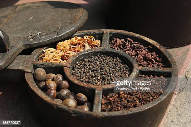 close-up of spices - garam masala stock photos and pictures