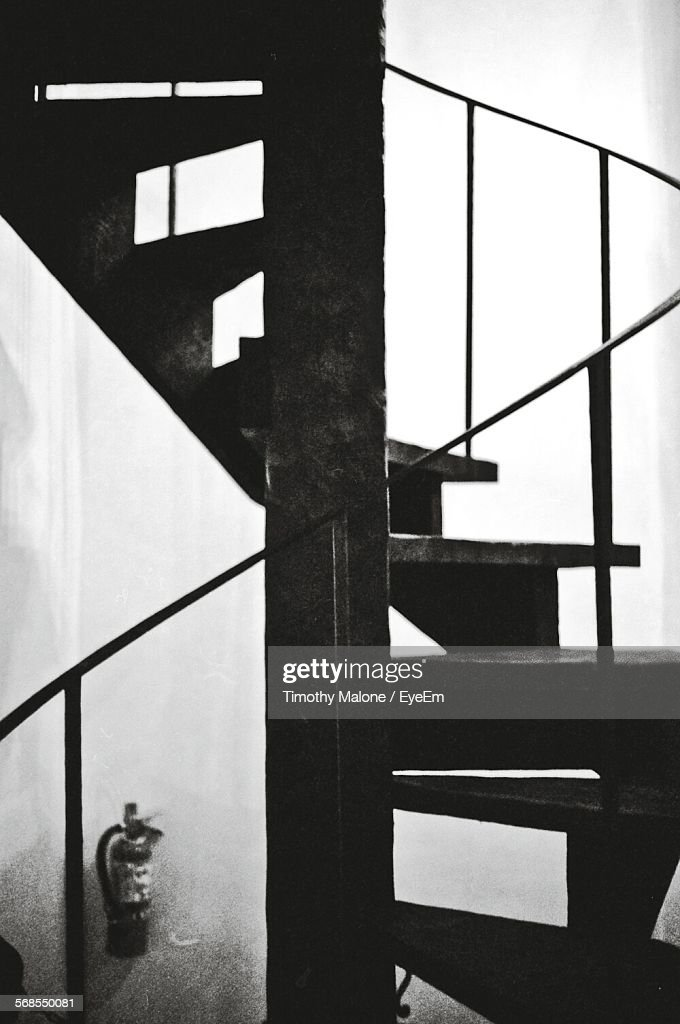 Close-Up Of Spiral Staircase In Building : Stock Photo