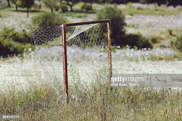 Close-Up Of Sport Net On Field