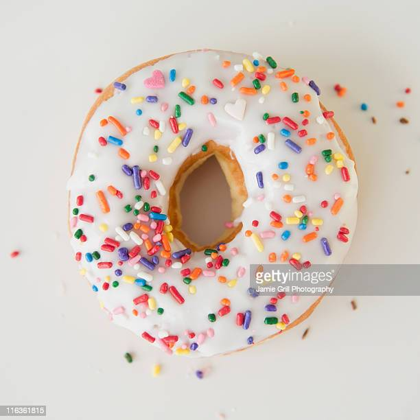 Close-up of sprinkled donut