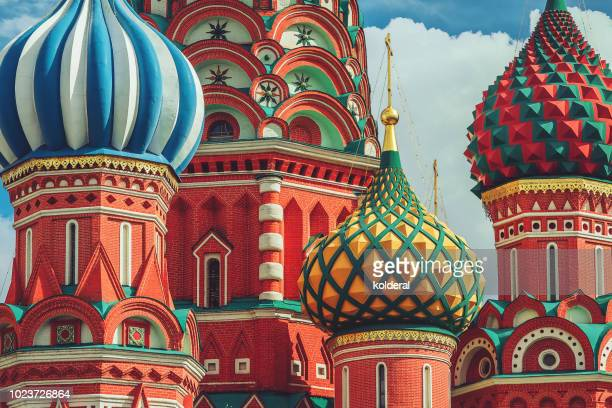 Close-up of St Basil cathedral cupola