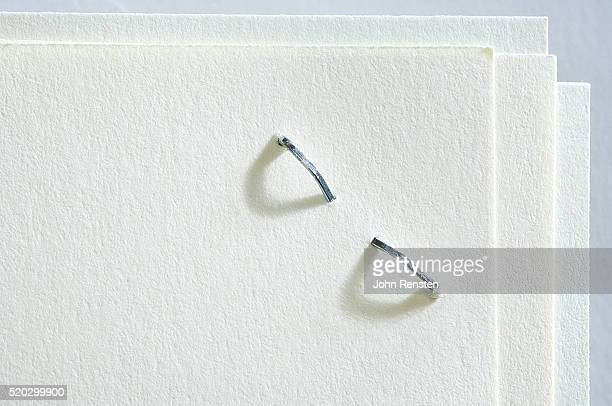 Close-up of Stapled Paper