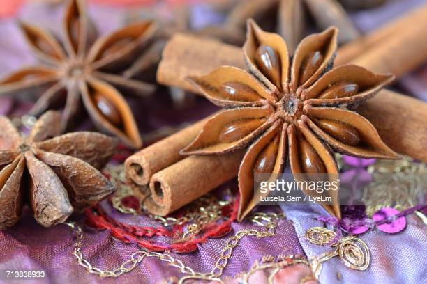Close-Up Of Star Anise And Cinnamon