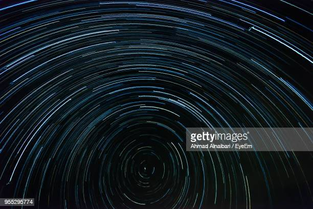Close-Up Of Star Trails At Night