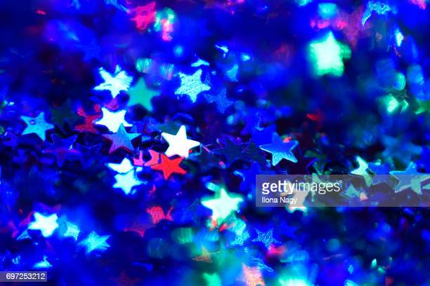 Close-up of star-shaped glitter