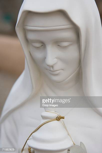 Close-up of statue of the Virgin Mary