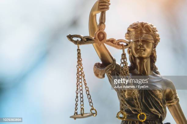 close-up of statue - lady justice stock pictures, royalty-free photos & images