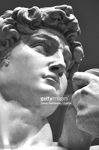 close-up of statue - sculptuur stockfoto's en -beelden