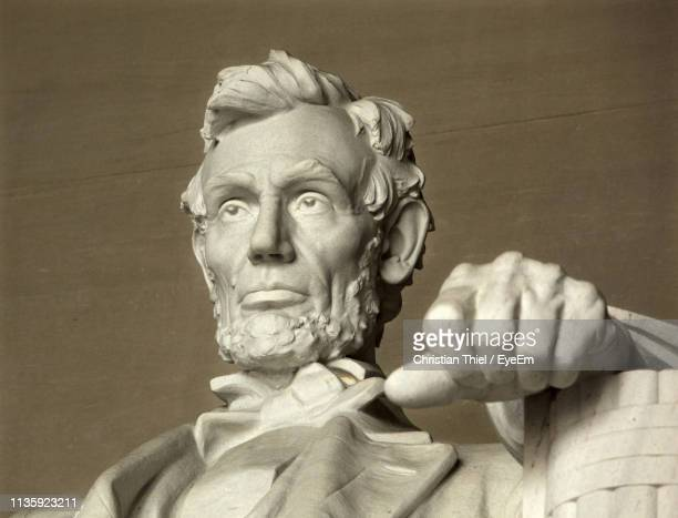 close-up of statue - lincoln memorial stock pictures, royalty-free photos & images
