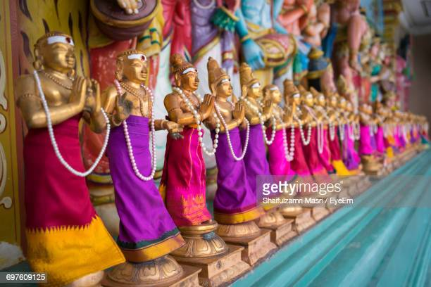 Close-Up Of Statues In Sri Maha Mariamman Temple Dhevasthanam