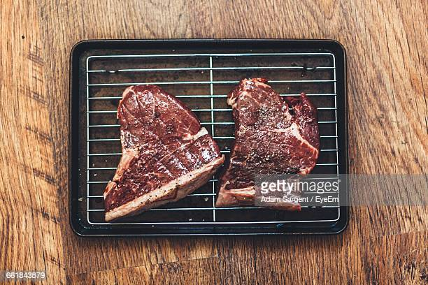 Close-Up Of Steak On Grill