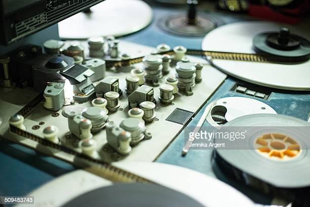 Closeup of steenbeck editing machine