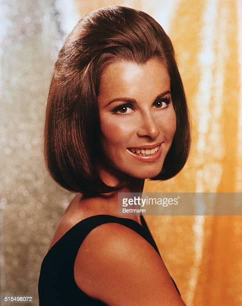 Closeup of Stefanie Powers currently starred in the film Stagecoach