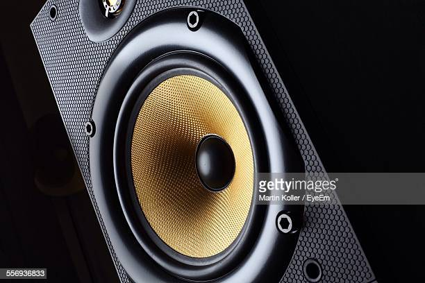 close-up of stereo speaker - loudspeaker stock photos and pictures