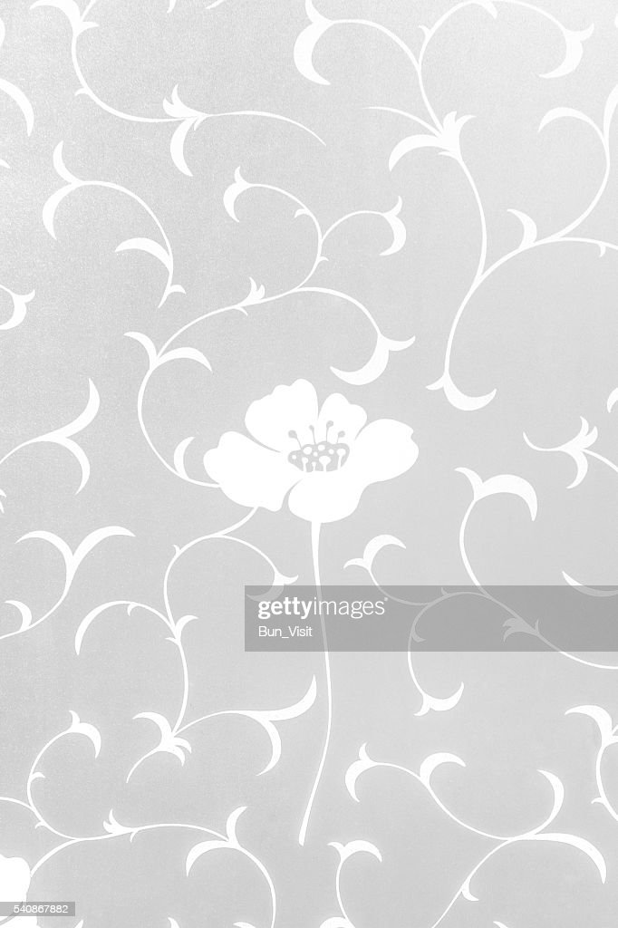 Close-up of sticker opaque flower. : Stock Photo