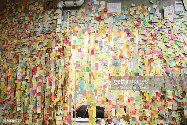 Close-Up Of Sticky Notes