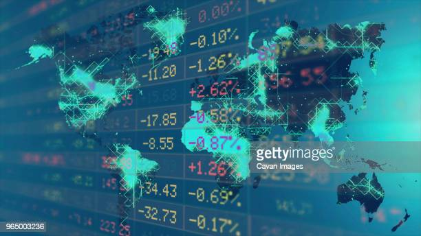 close-up of stock market data on trading board - interest rate stock pictures, royalty-free photos & images