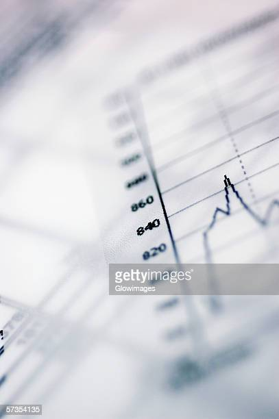 close-up of stock market data - inflation stock photos and pictures