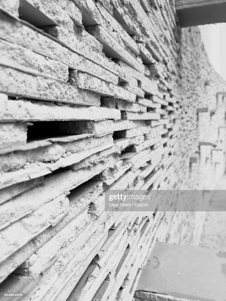 Close-Up Of Stone Wall : Stock Photo