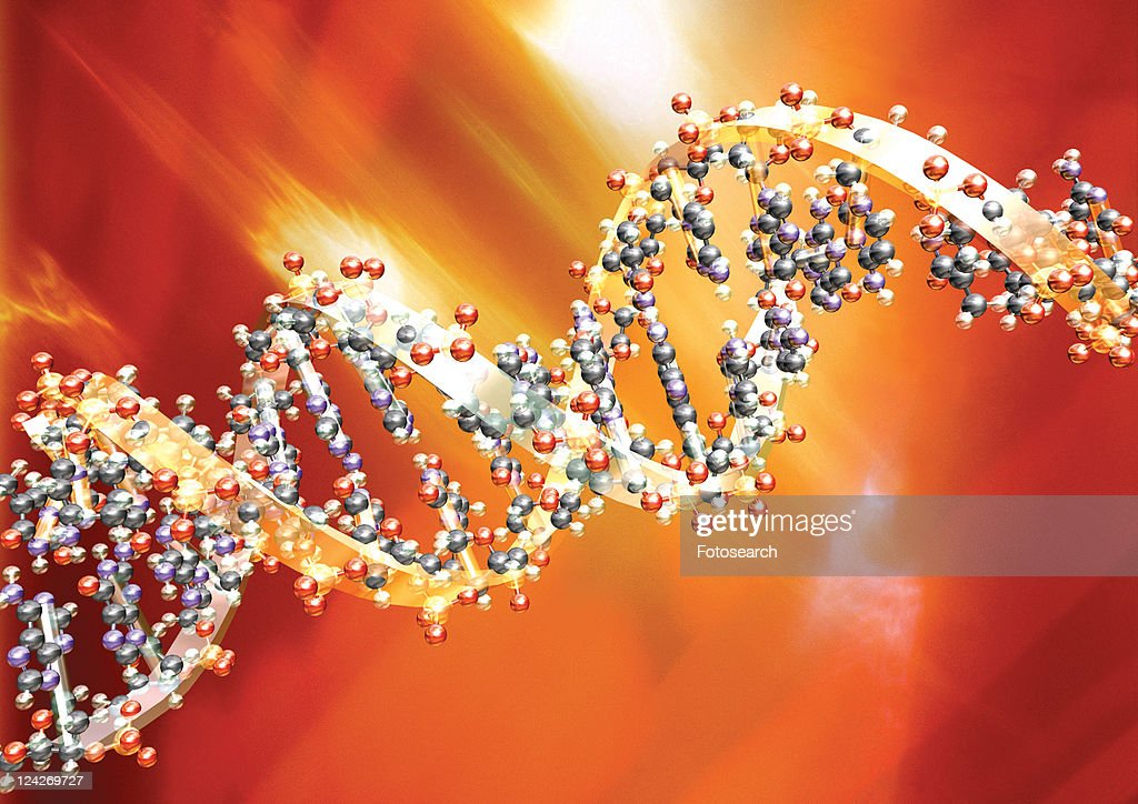 Close-up of strands of DNA : Stock Photo