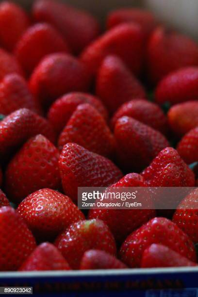 Close-Up Of Strawberries In Box