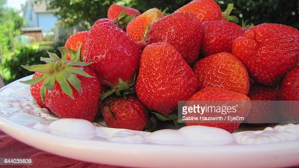 Close-Up Of Strawberries In Plate