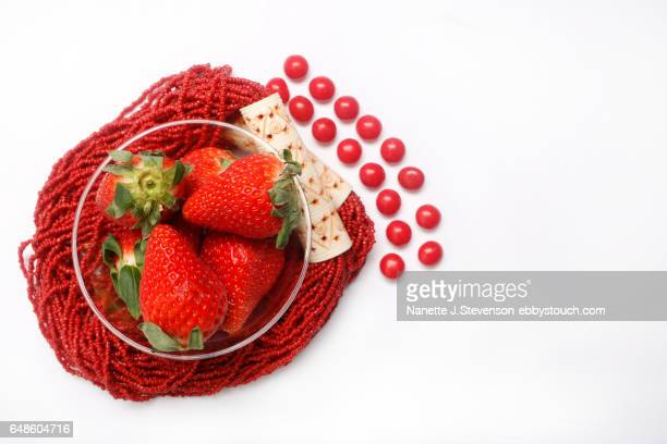 closeup of strawberries - nanette j stevenson stock photos and pictures