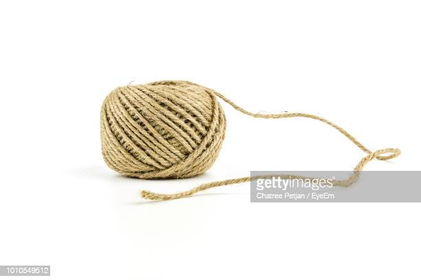 close-up of string against white background - string stock pictures, royalty-free photos & images