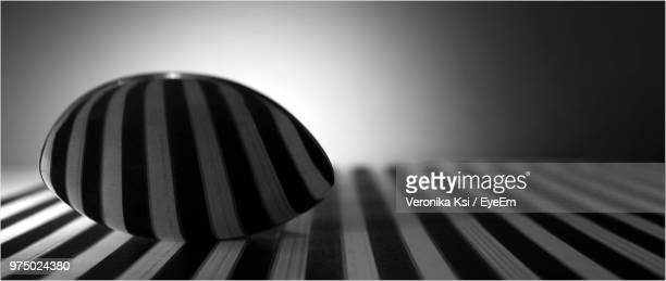 close-up of striped decoration on table - ksi stock photos and pictures